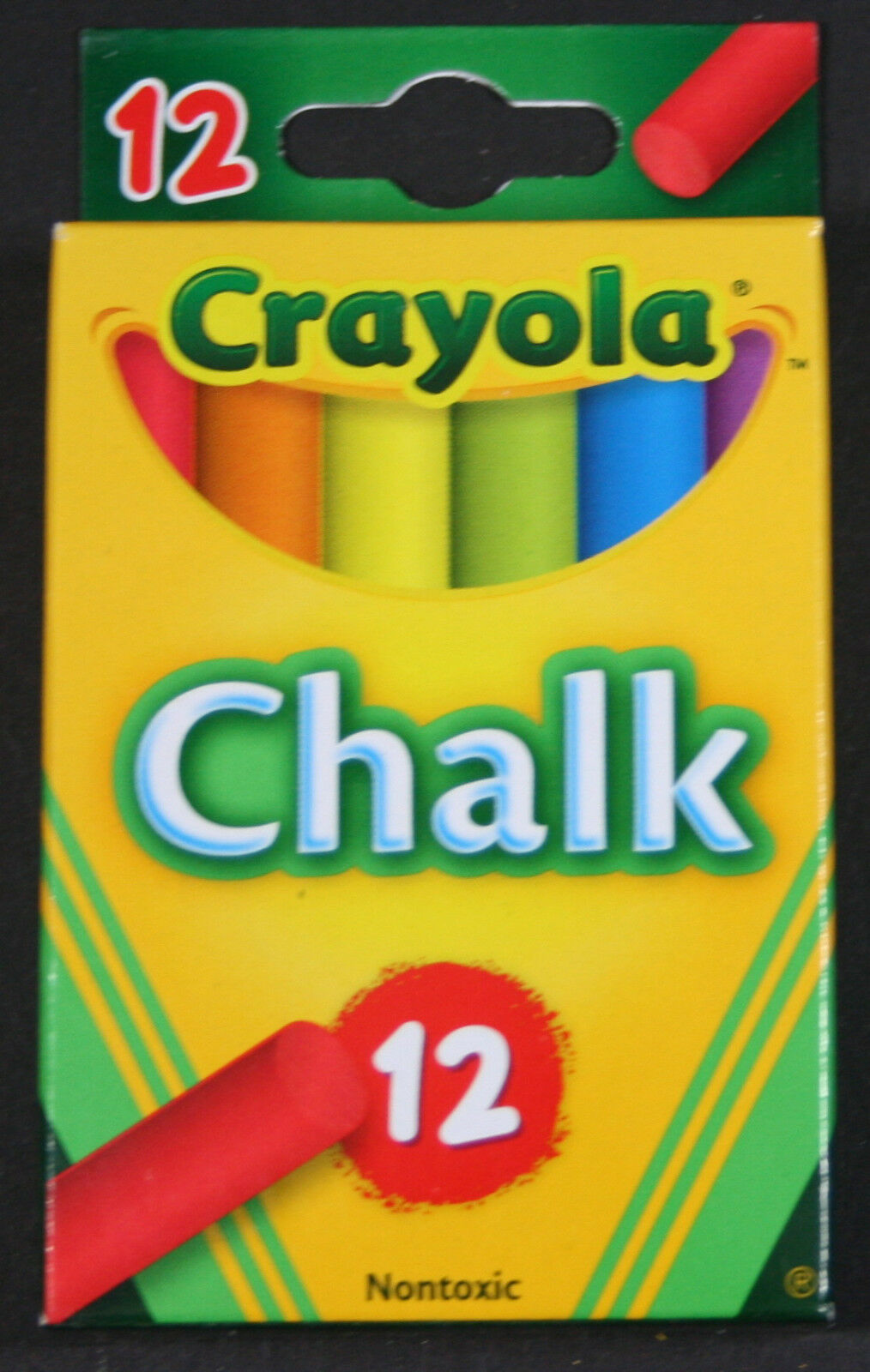 Crayola 51-0816 Colored Chalk Assorted 12 Count