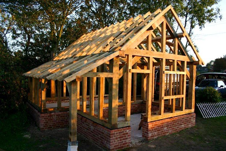 Post beam living inspirations timber frame shed plans for Post and beam shed plans