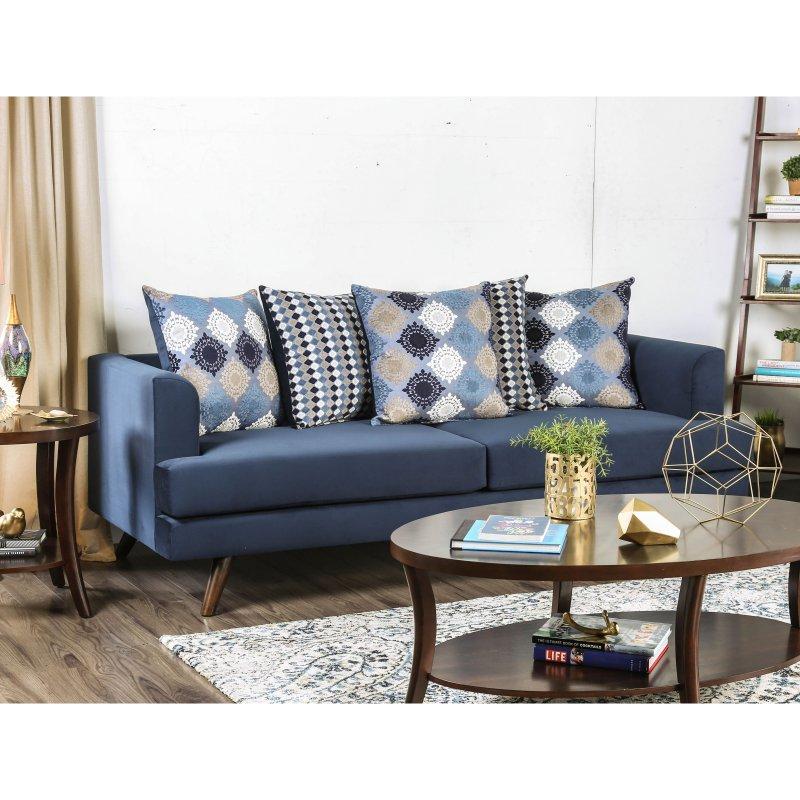 Furniture Of America Wilson Contemporary Sofa Silver