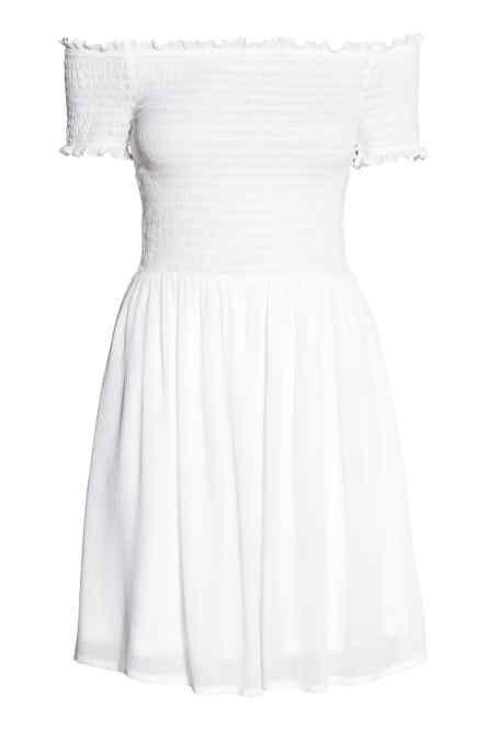 white Shoulder Dress Smokkirypytetty Off MekkoVaatteet Dresses trhQsd