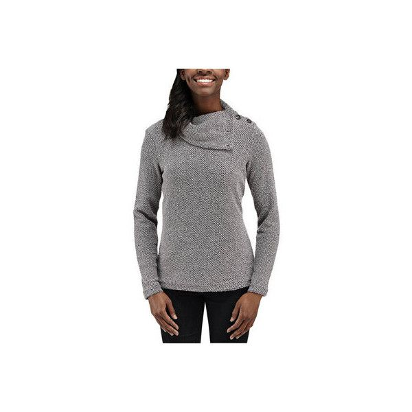 Women's Merrell Ravion Pullover - Shadow Pullovers ($90) ❤ liked on Polyvore featuring tops, sweaters, black, sweater pullover, black sweater, black pullover, snug top and pullover sweater