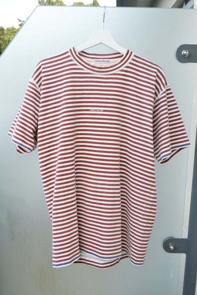 ec4ef7ef30 Image of VINTAGE 90'S STONE ISLAND NAUTICAL STRIPED T-SHIRT | Outfit ...