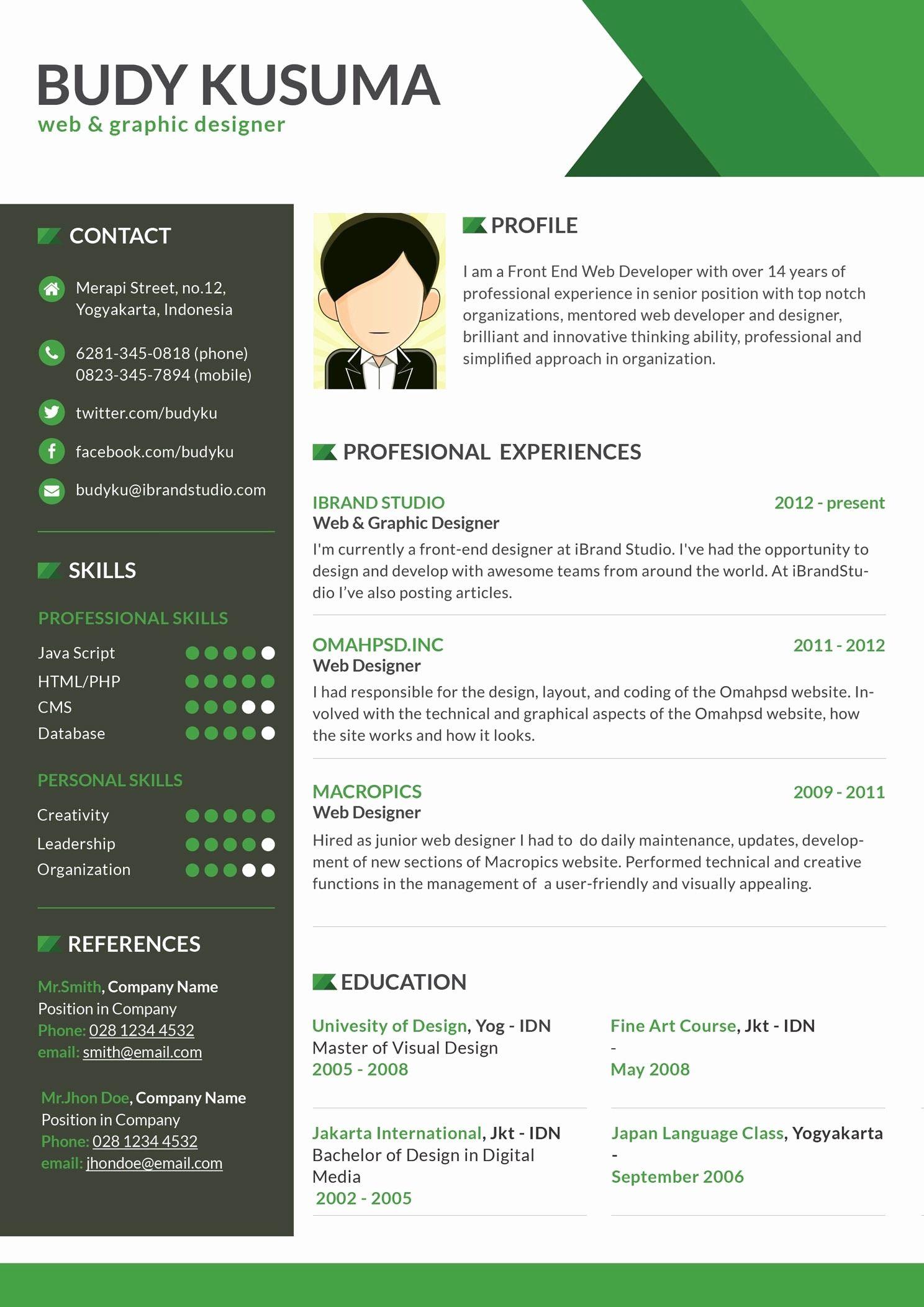 interior design resume template free