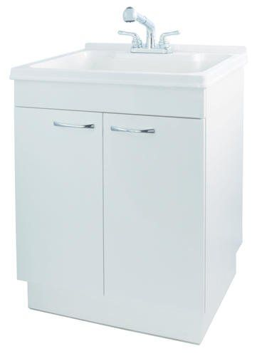 Plumb Works Laundry Cabinet Kit With Pull Out Faucet. Chrome non ...