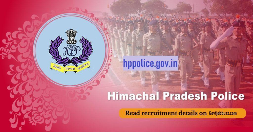 hppolice.gov.in HP Police Constable Bharti 2019 Free
