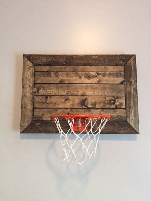Faux Pallet Designed Basketball Goal DIY Wall Decor Great For Rustic Decor,  Basement, Office Or Childu0027s Sports Room. Framed CHOOSE SIZE | Basketball  Goals, ...