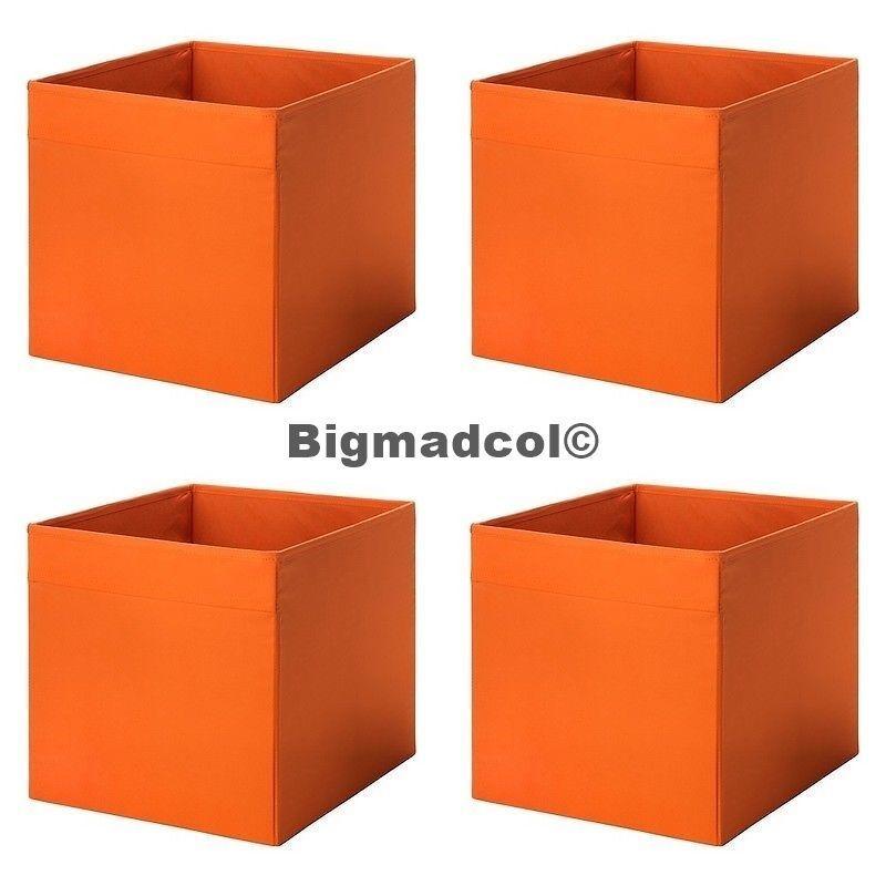 IKEA Drona Orange Storage Boxes For Expedit U0026 Kallax Units X 4 Qty FOUR