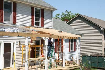 Porch Roof Construction
