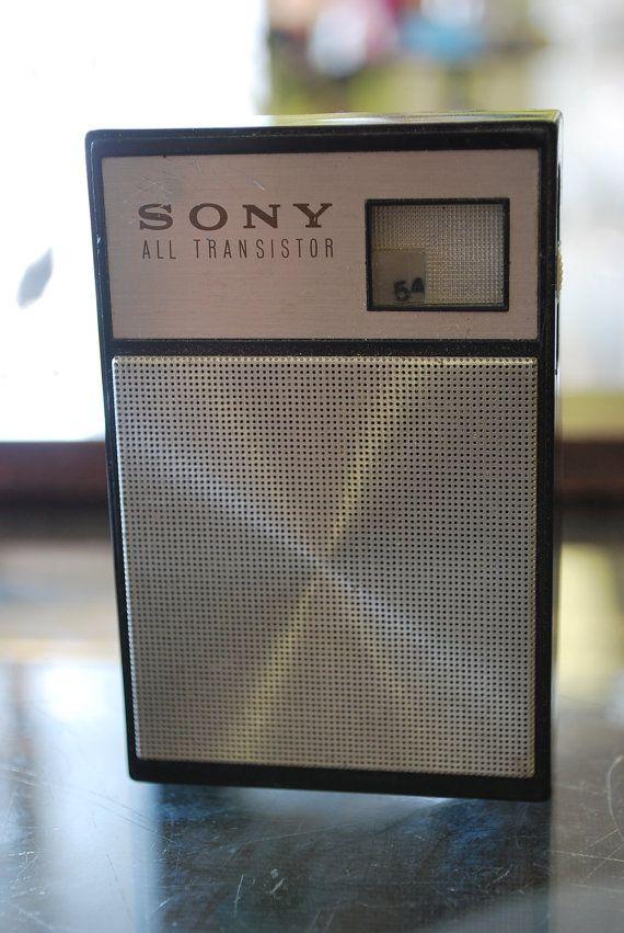 Vintage 1960s All Transistor Sony 1966, we were in Germany (K - mega k chenmarkt stuttgart