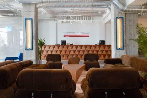 Icelandic design studio Döðlur has paired 20th-century design pieces with custom-made furniture inside this hotel-cum-hostel on Reykjavík's waterfront.