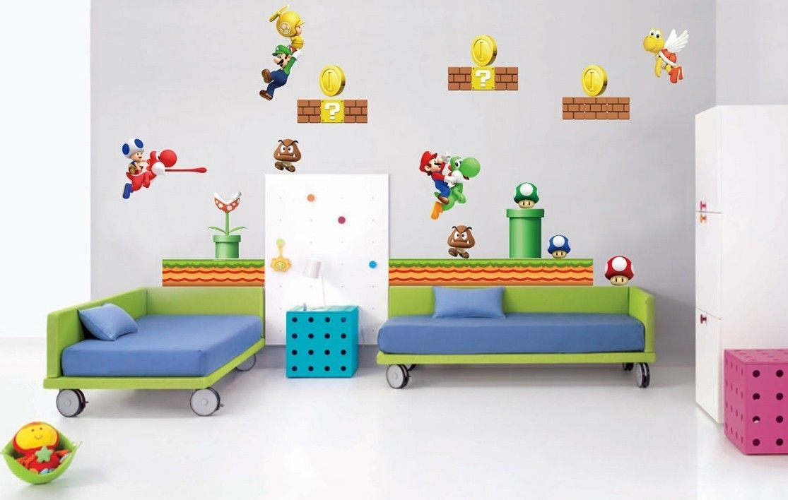 Video game wall murals choice image home wall decoration ideas super mario decal removable video game wall sticker new model super mario decal removable video game amipublicfo Choice Image