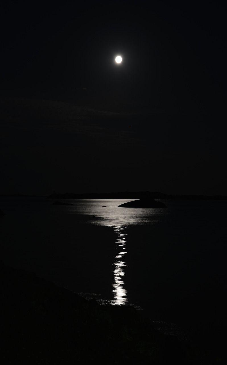 Free Image On Pixabay Night Moon Moonlight Sea Water Night Moon Images Night Sky Photography Stars Night Sky Photography