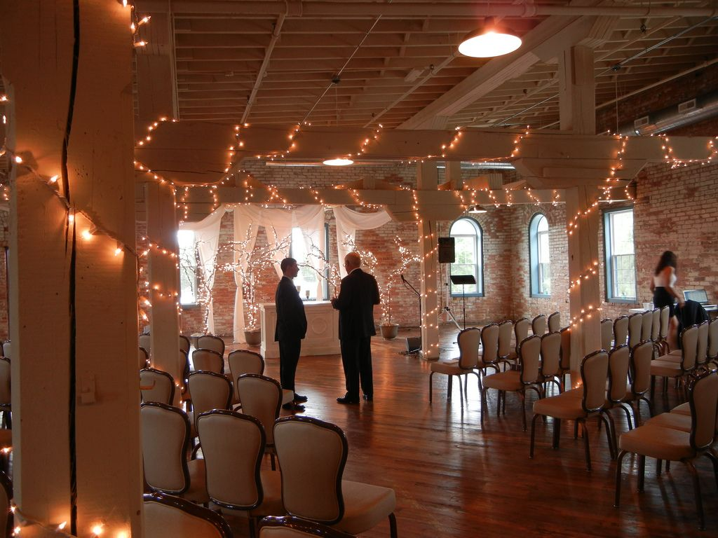 The Ballroom Suite ready for a ceremony at Bread & Chocolate ...
