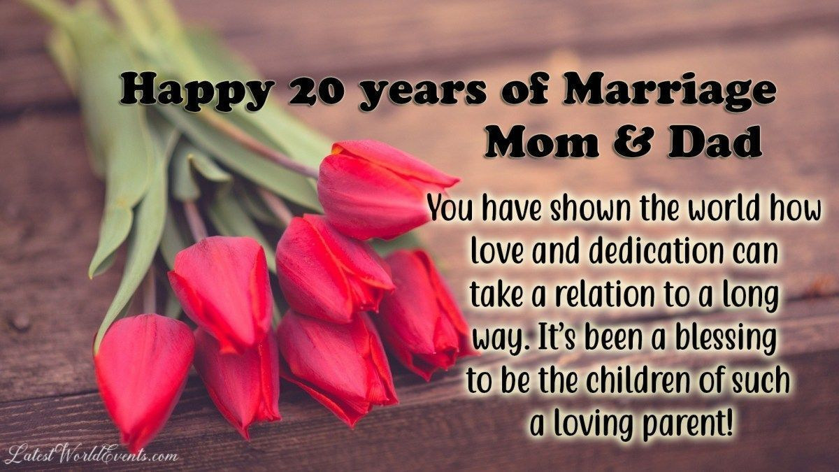 20th anniversary wishes for parents Anniversary quotes