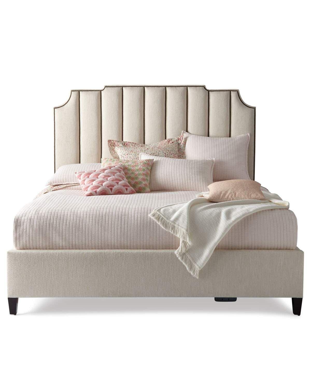 Bernhardt Bayonne Channel Tufted California King Bed | Camas