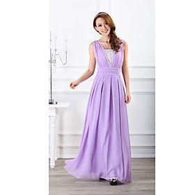 Surface Lilac Vest Sweet Chiffon Formal Dress