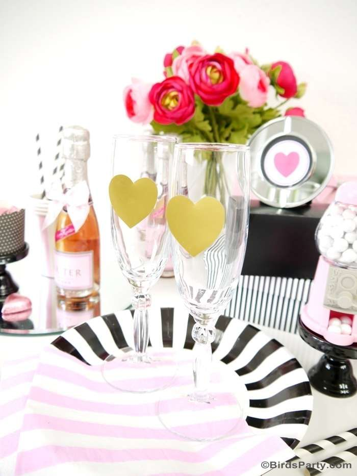 Valentine Cocktail Party Ideas Part - 25: Pink And Black Cocktail Party Ideas