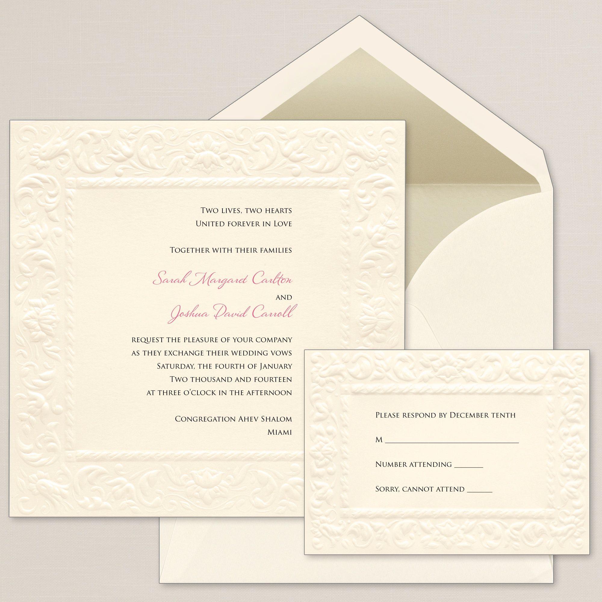 Old World Elegance Wedding Invitation