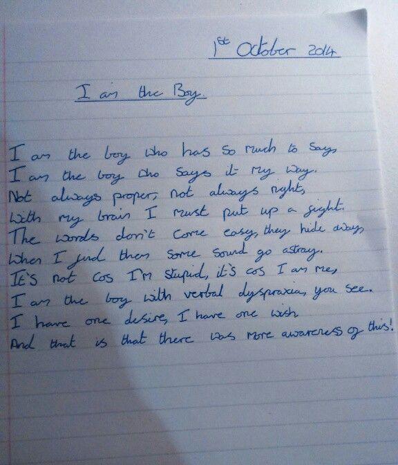 Dyspraxia handwriting help