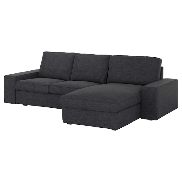 Kivik Sofa With Chaise Hillared Anthracite Ikea Chaise Bank Sofa Chaise Longue