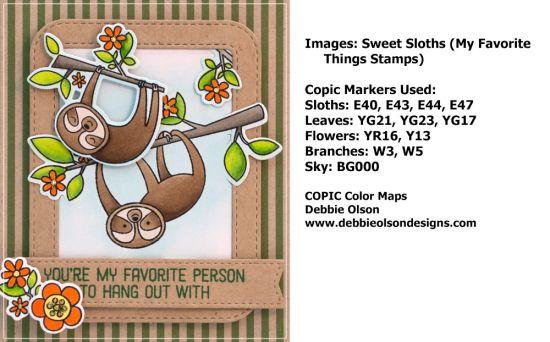 MFT_Sweet-Sloths1e_Deb-Olson | MFT | Cards, Copic markers, Color