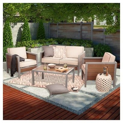 Threshold Bryant Faux Wood Sling Patio Furniture Collection