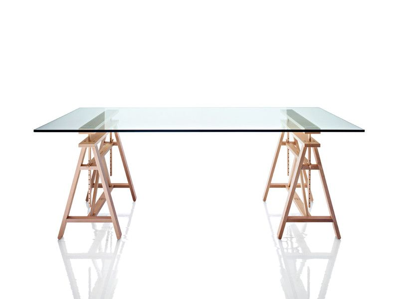 Magis Teatro Trestle Table Trestle tables, Teatro and Industrial - kleine regale für küche
