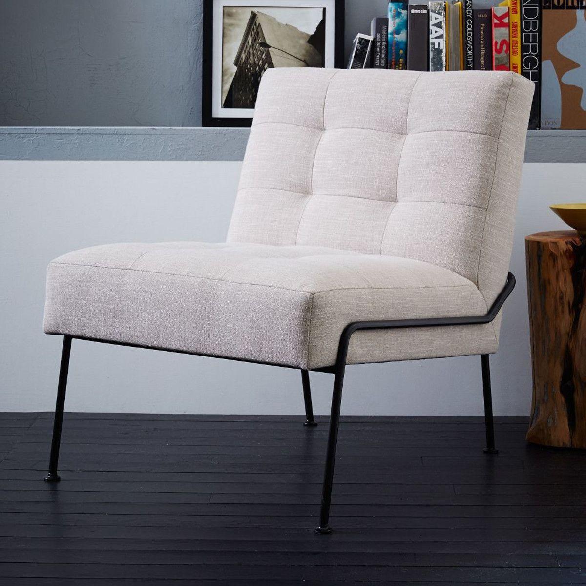 Slipper Chair Oswald Tufted Slipper Chair West Elm Furnishings Pinterest