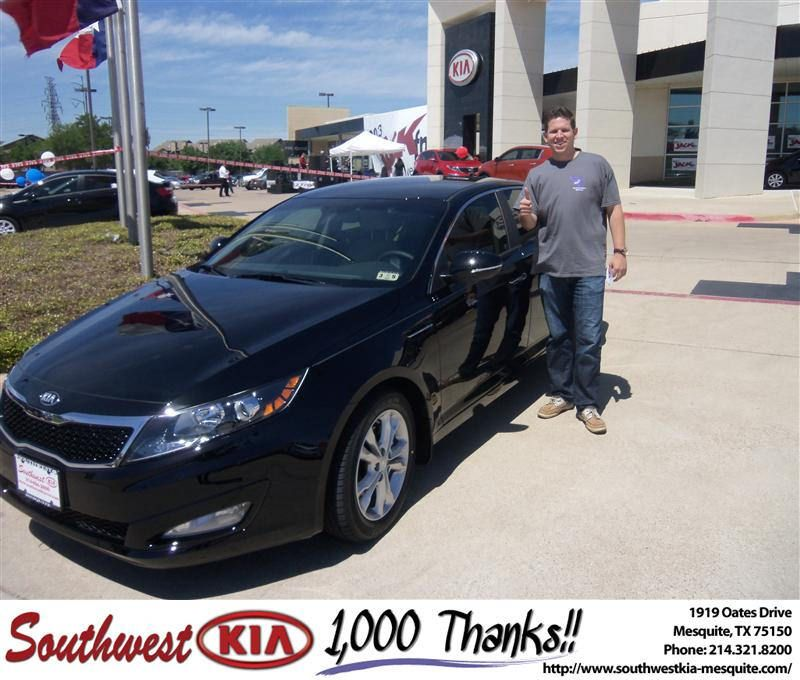 happybirthday to jered furrh from constatine boury at southwest kia mesquite kia optima kia happy anniversary pinterest