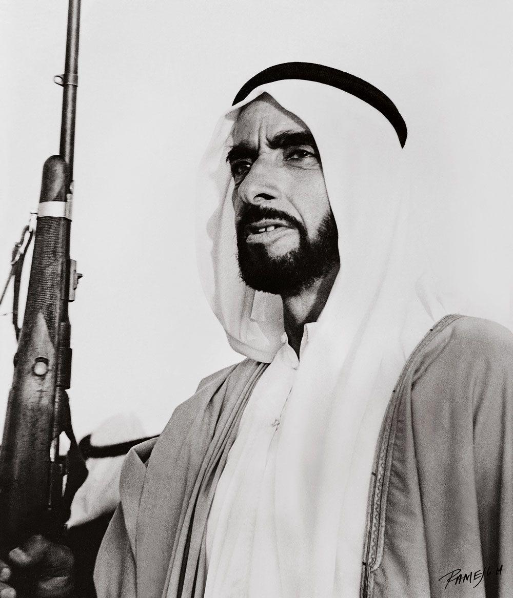 Shk Zayed Male Sketch Scar Uae