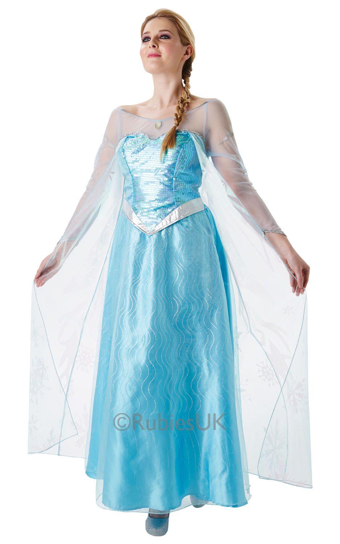 Frozen Elsa. Frozen-naamiaisasut ovat saavuttaneet suuren suosion ja nyt asusta on saatavana myös aikuisten koko. Tämä kaunis prinsessa-asu lumoaa niin suuret kuin pienetkin prinsessat ja on taatusti tunnistettava ja ihastusta herättävä naamiaisasu.