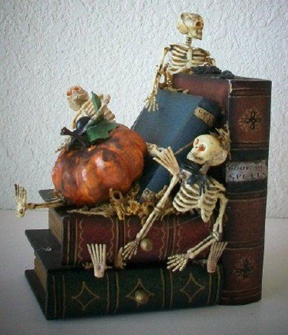 Cute n Spooky Library Skeleton Halloween Decoration, Halloween Party