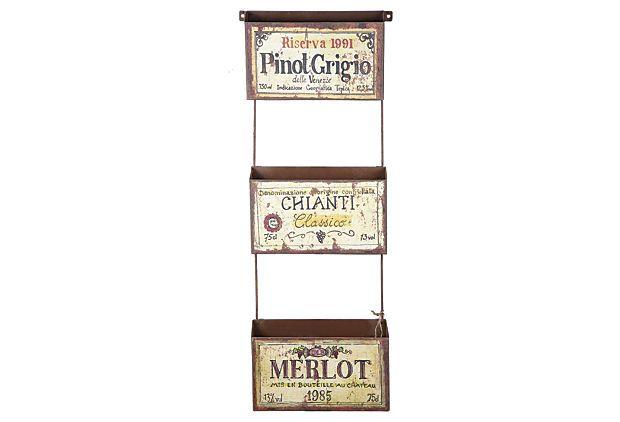 Vino Wall Pockets on OneKingsLane.com