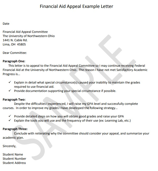 Financial Aid Appeal Letter Templates 5 Free Word Pdf Financial Aid Lettering Letter Templates