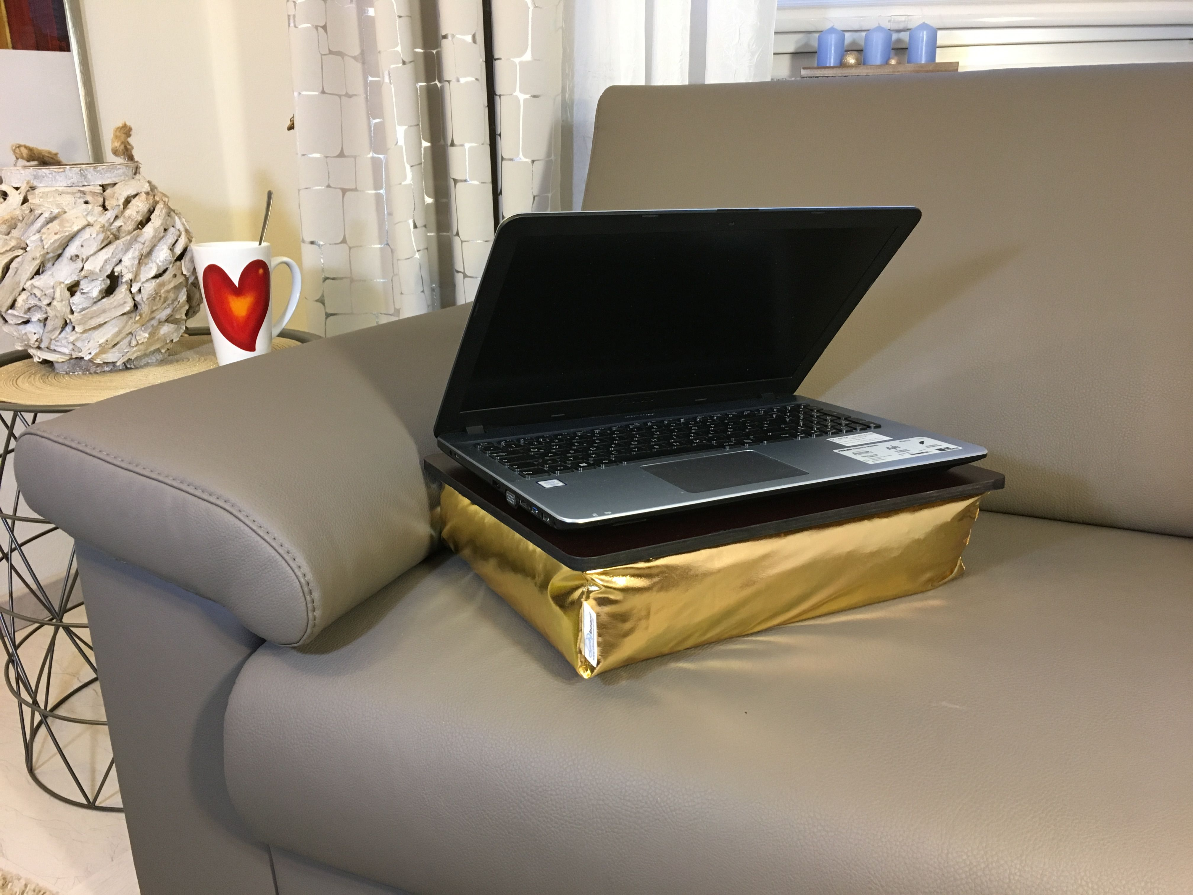 Eizigartiges Goldenes Knietablett Laptop Kissen Knietablett
