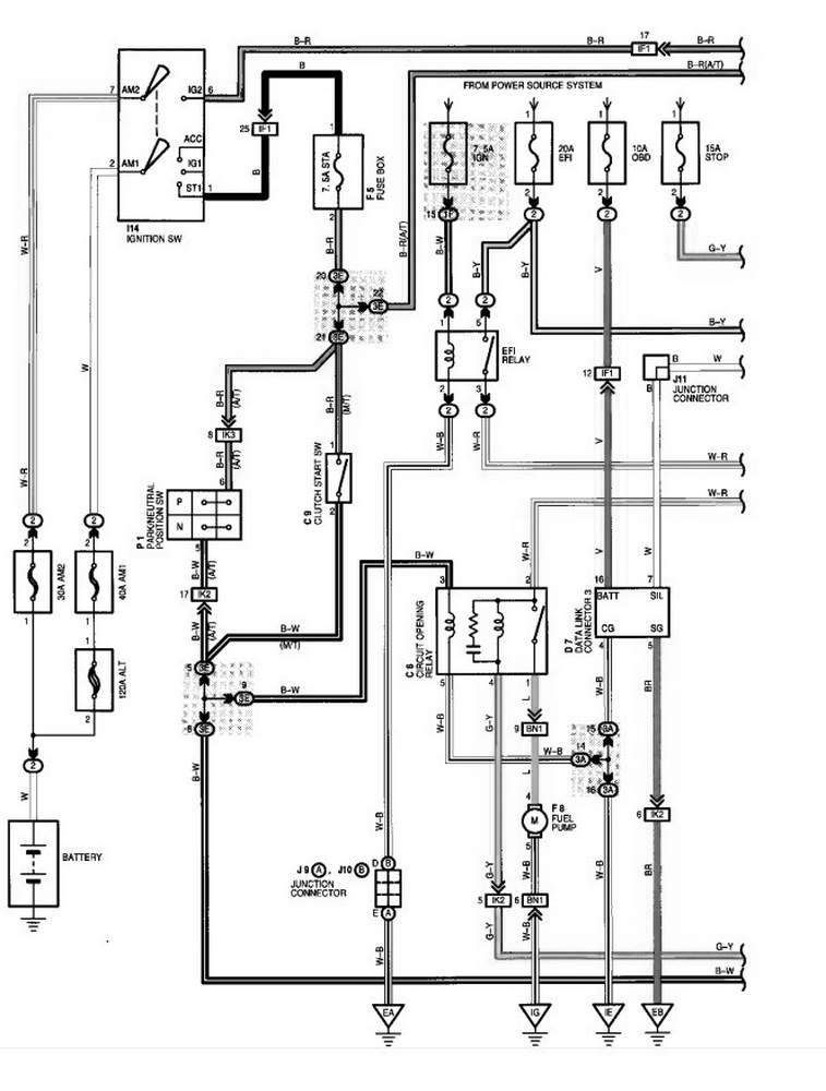 Wiring Diagram For Trailer With Brakes Schaltplan Jeep Cherokee Toyota Camry