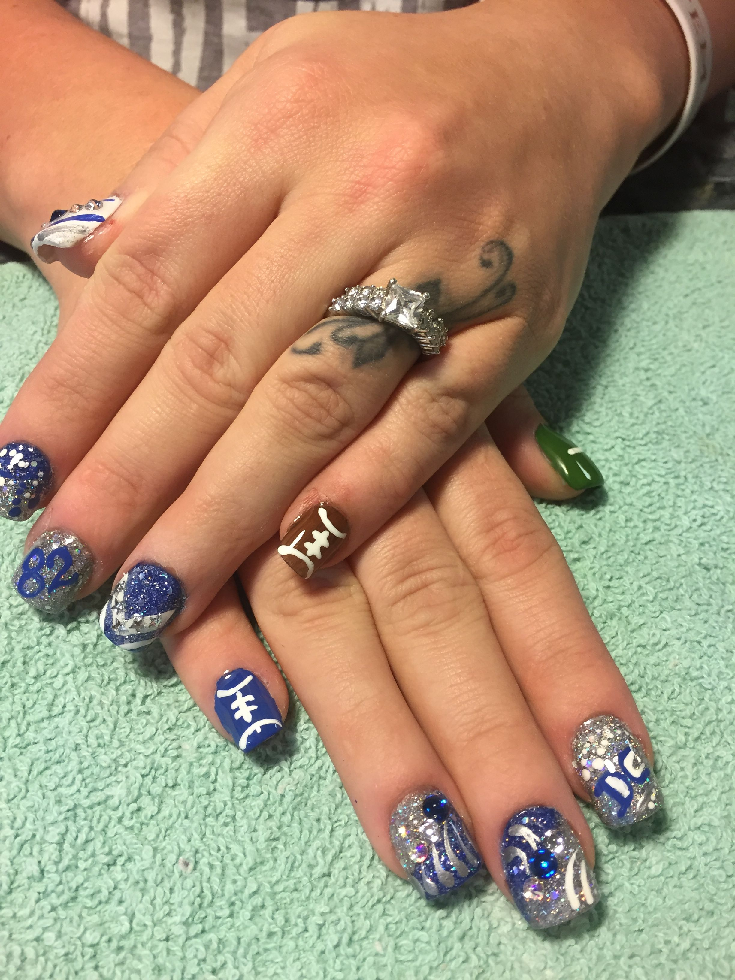 Dallas Cowboys Nails And Nail Art Manicures Pinterest Dallas