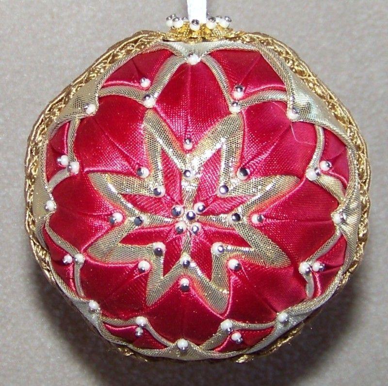 OOAK Handmade Quilt/Quilted Ball Christmas Ornament | Quilted ornaments, Quilted christmas ...