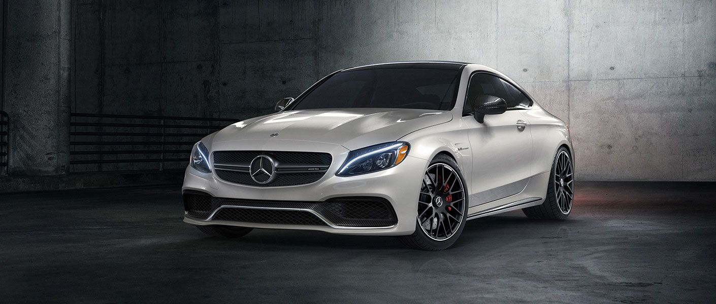 Mercedes Amg C 63 S Coupe In Designo Diamond White With Amg Cross