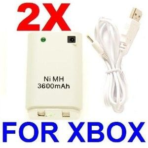 New 3600mAh Controller Battery Pack   Cable For Xbox 360Compatible with:Microsoft:     Xbox 360*Save money and protect the environment by using the rechargeable battery *Battery can also be charged through any USB port, included the USB port on the xBox 360 console *Fits directly into the existing battery compartment *Battery Output: DC 2.4V *Capacity: 3600 mAh *Color: Light gray *Package includes: Rechargeable battery and USB charging cable *Accessory ONLY, xBox 360 console