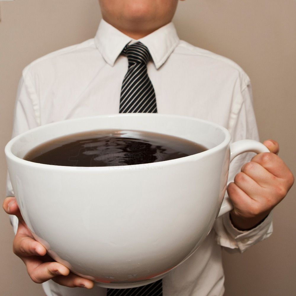 Muy Grande Extra Large Coffee Cup I Would Get This For My Friend Rhyan But I M Fairly Sure It Would Weigh More Large Coffee Mugs Coffee Addict Coffee Humor