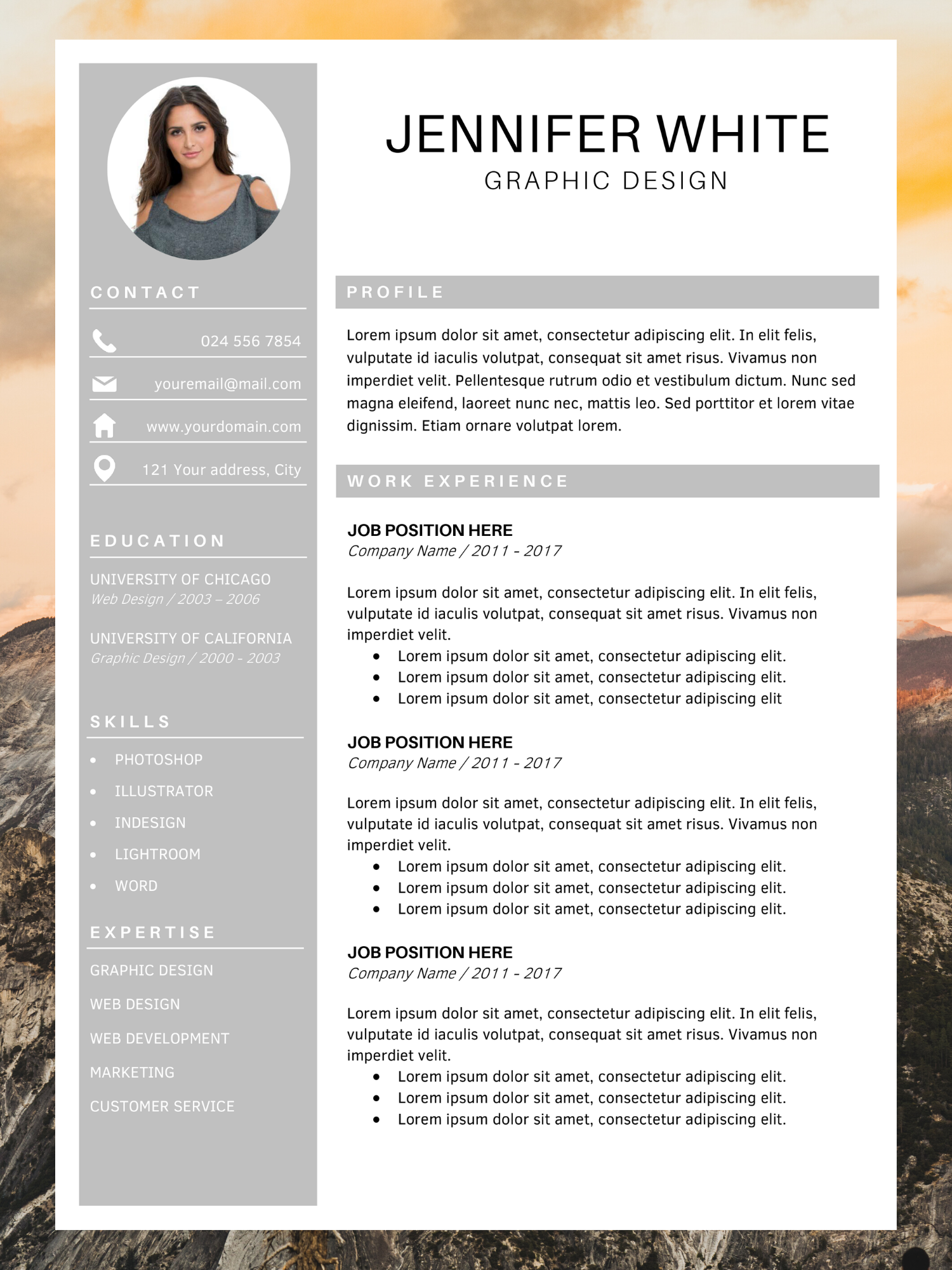 Professional Resume Template Resume Instant Download Etsy Unique Resume Template Resume Template Best Cv Template