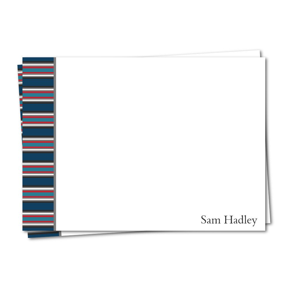 blue and red note card personalized note card printable note card