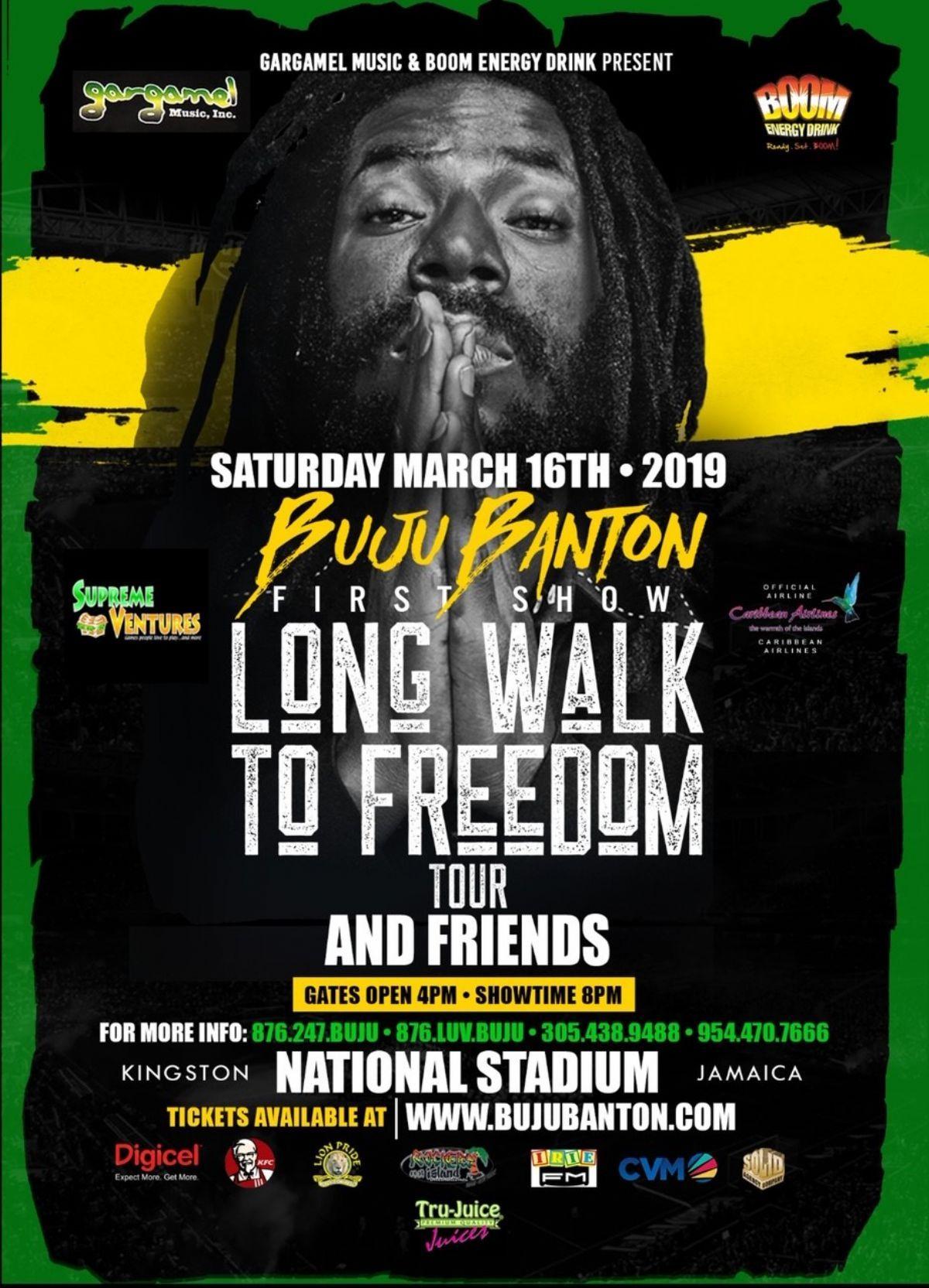 Long Walk To Freedom Tour Jamaica Travel Tours Buju Banton