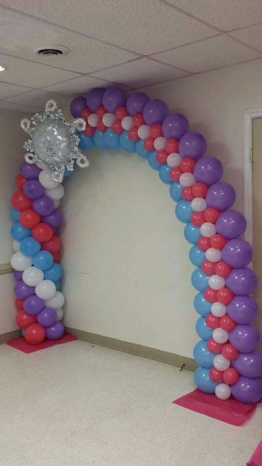 Frozen   GLOBOS   Pinterest   Balloon arch frame, Frozen decorations ...