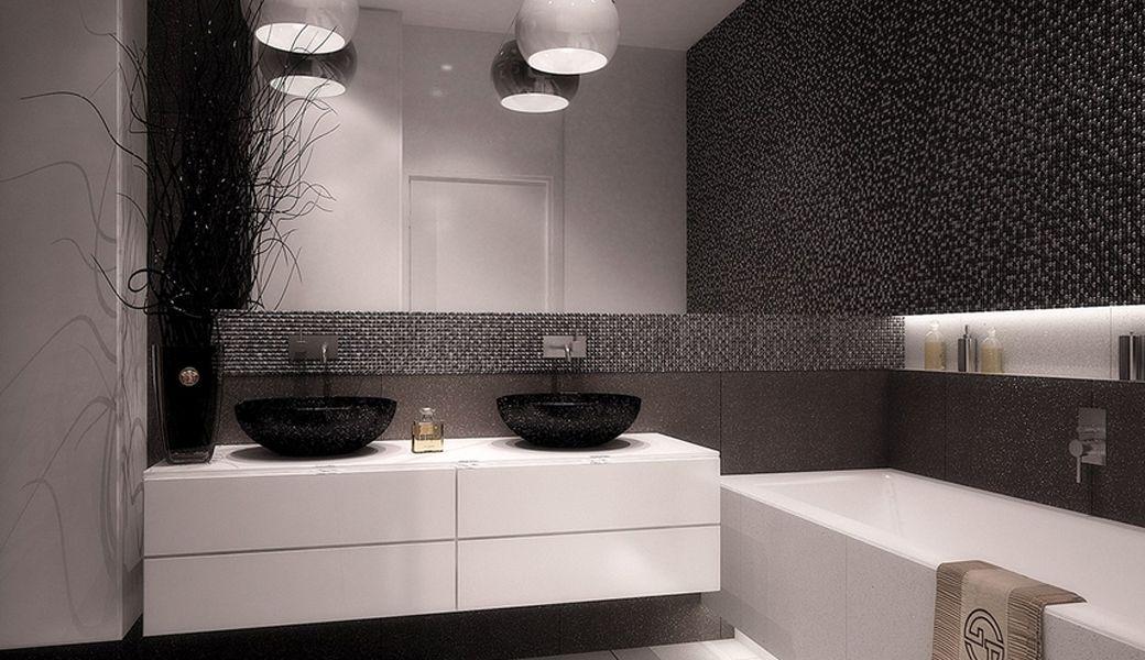 grau wei es badezimmer in minimosaik wg pinterest badezimmer wei e badezimmer und baden. Black Bedroom Furniture Sets. Home Design Ideas