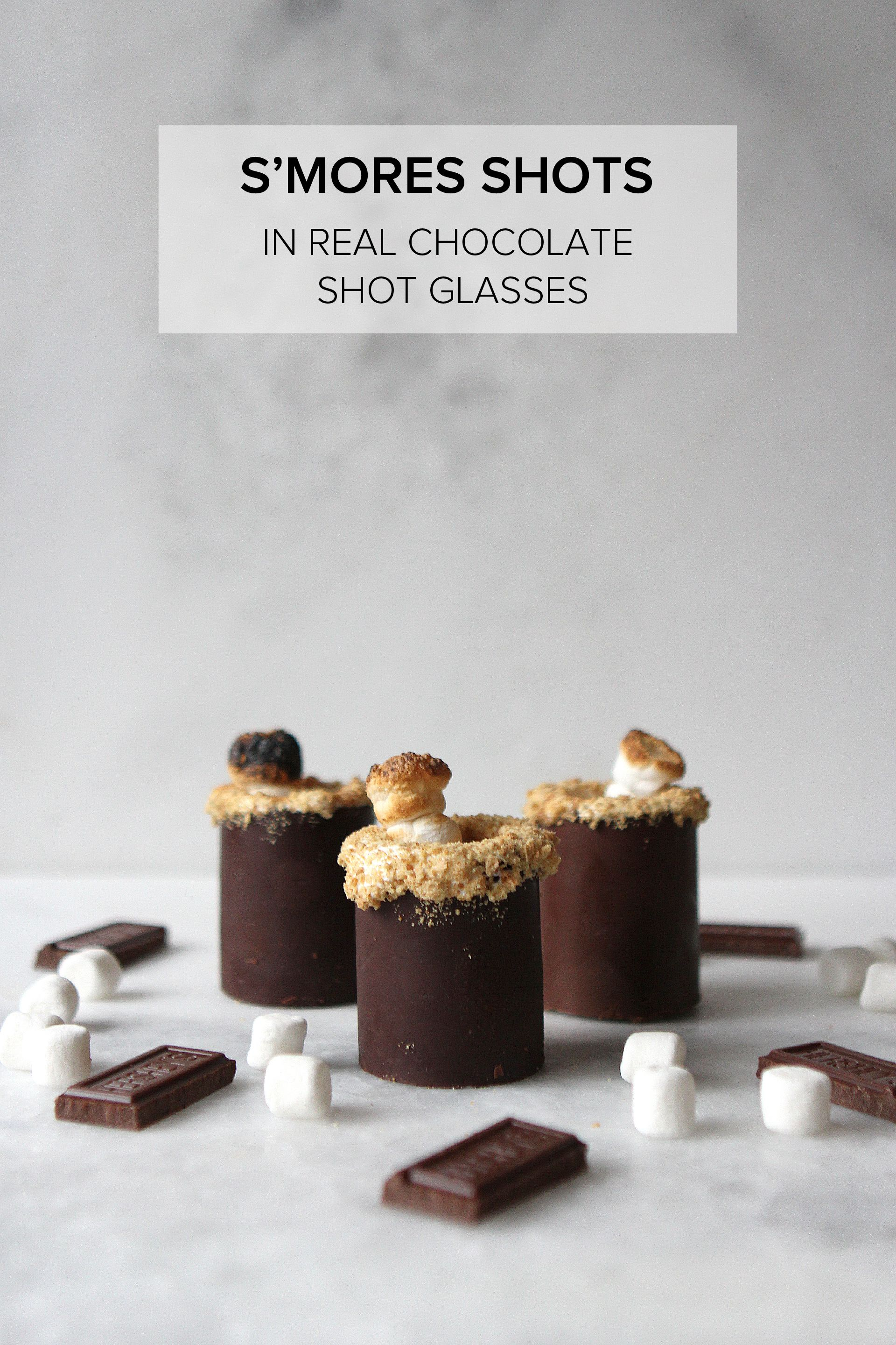 S'mores Shots in Real Chocolate Shot Glasses « Alexandra Adams
