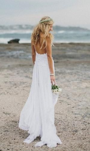 Stunning low back white lace wedding dress by Graceloveslace by commmom
