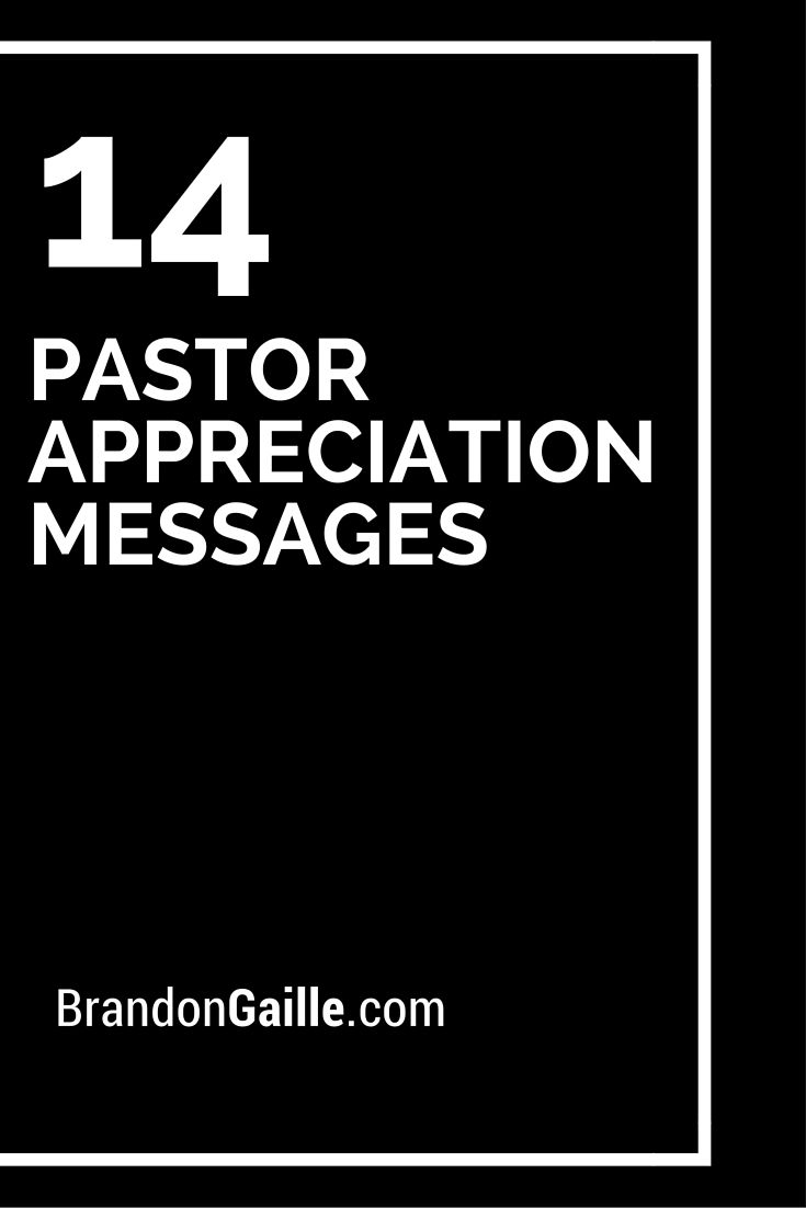 Ideas For Pastor Anniversary Table - 14 pastor appreciation messages