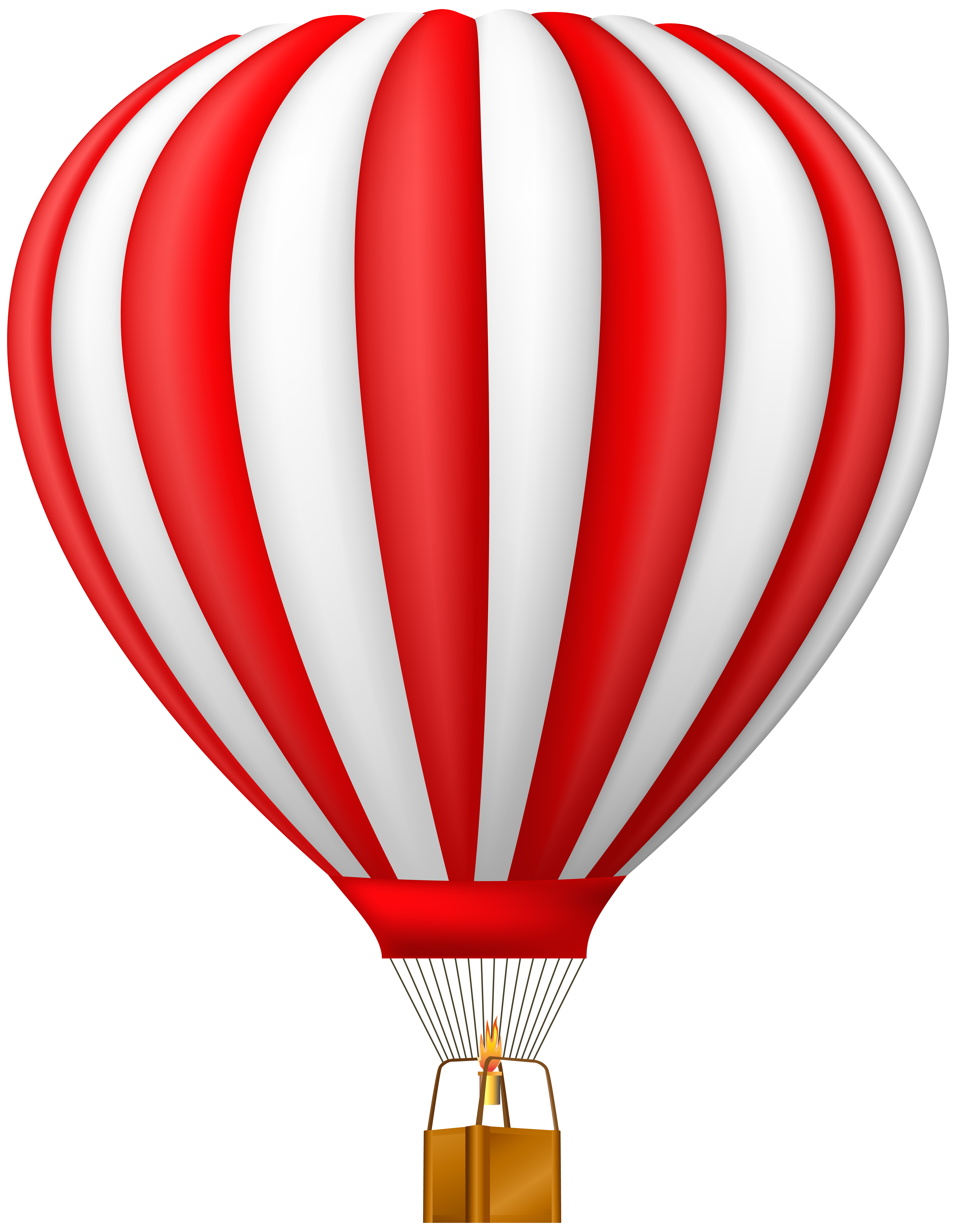 Red Hot Air Balloon Transparent PNG Clip Art Gallery